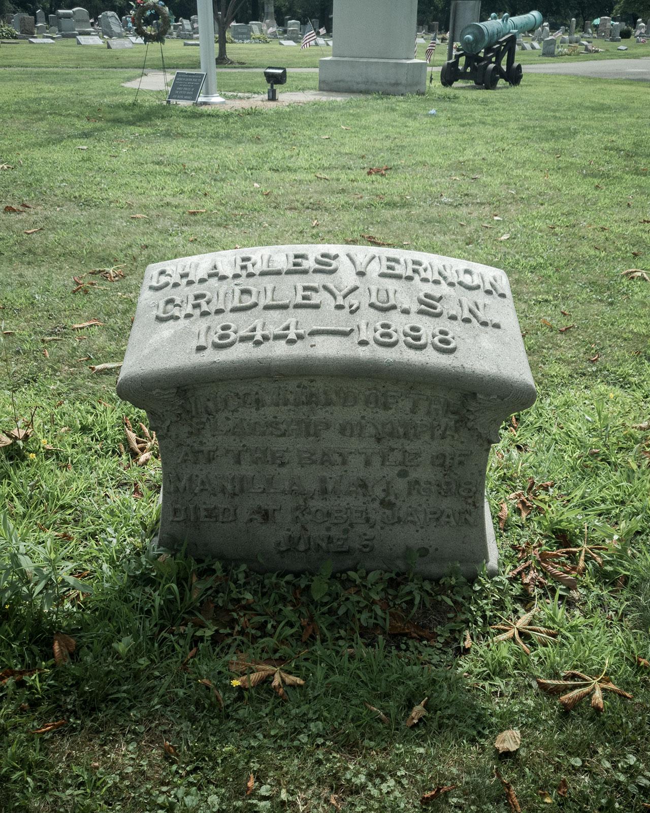gravestone of Charles Vernon Gridley