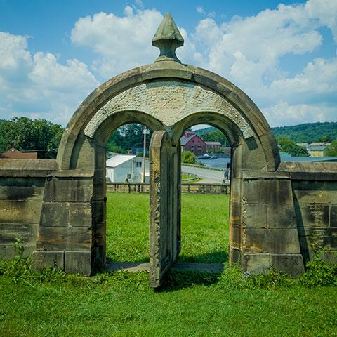 Harmonist Cemetery gate