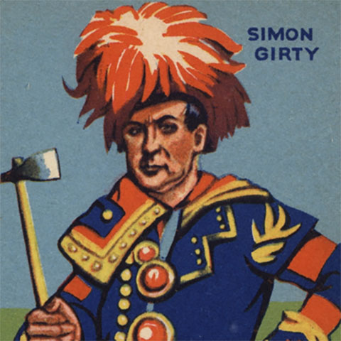 Simon Girty chewing gum card