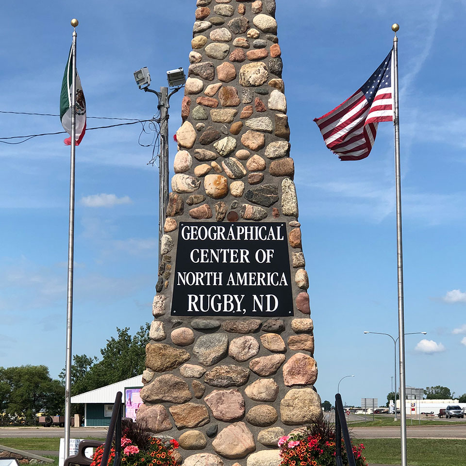 Geographic Center of North America monument in Rugby, ND