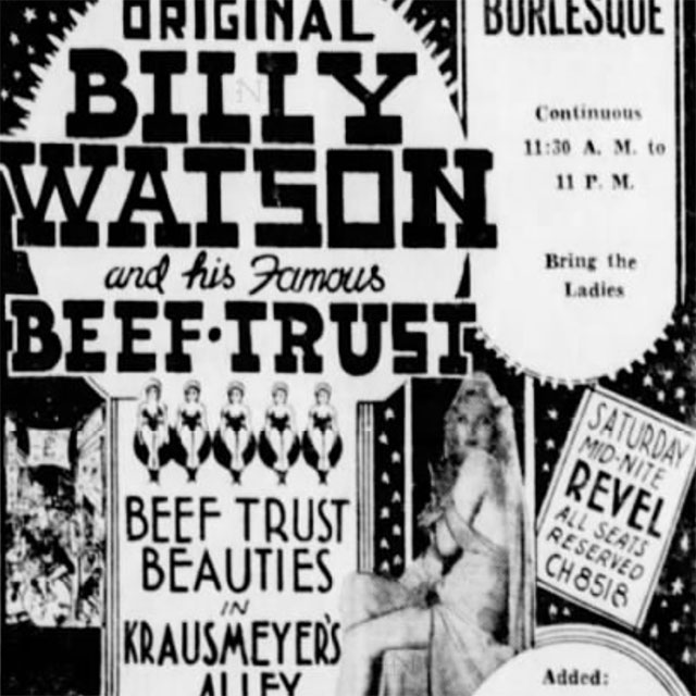 Original Billy Watson and His Famous Beef-Trust Beauties in Krausmeyer's Alley