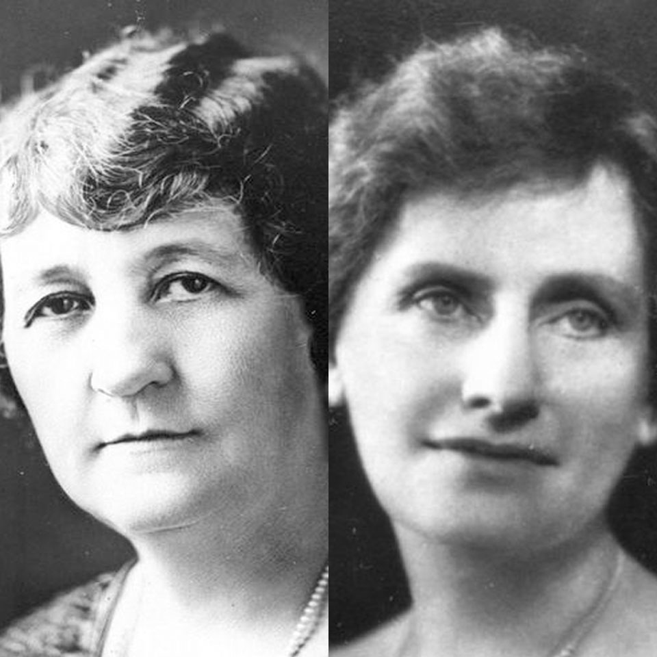 Miriam A. Ferguson (left) and Nellie Tayloe Ross (right)