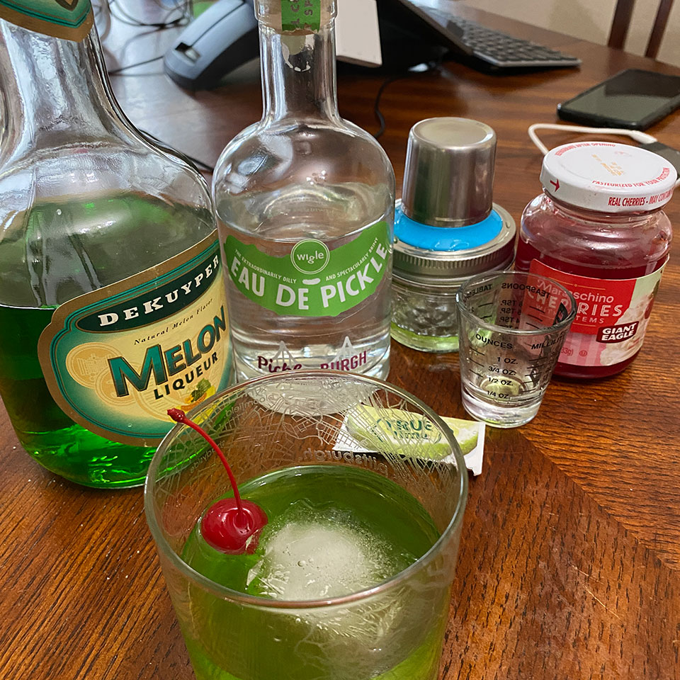 the pickled melon cocktail