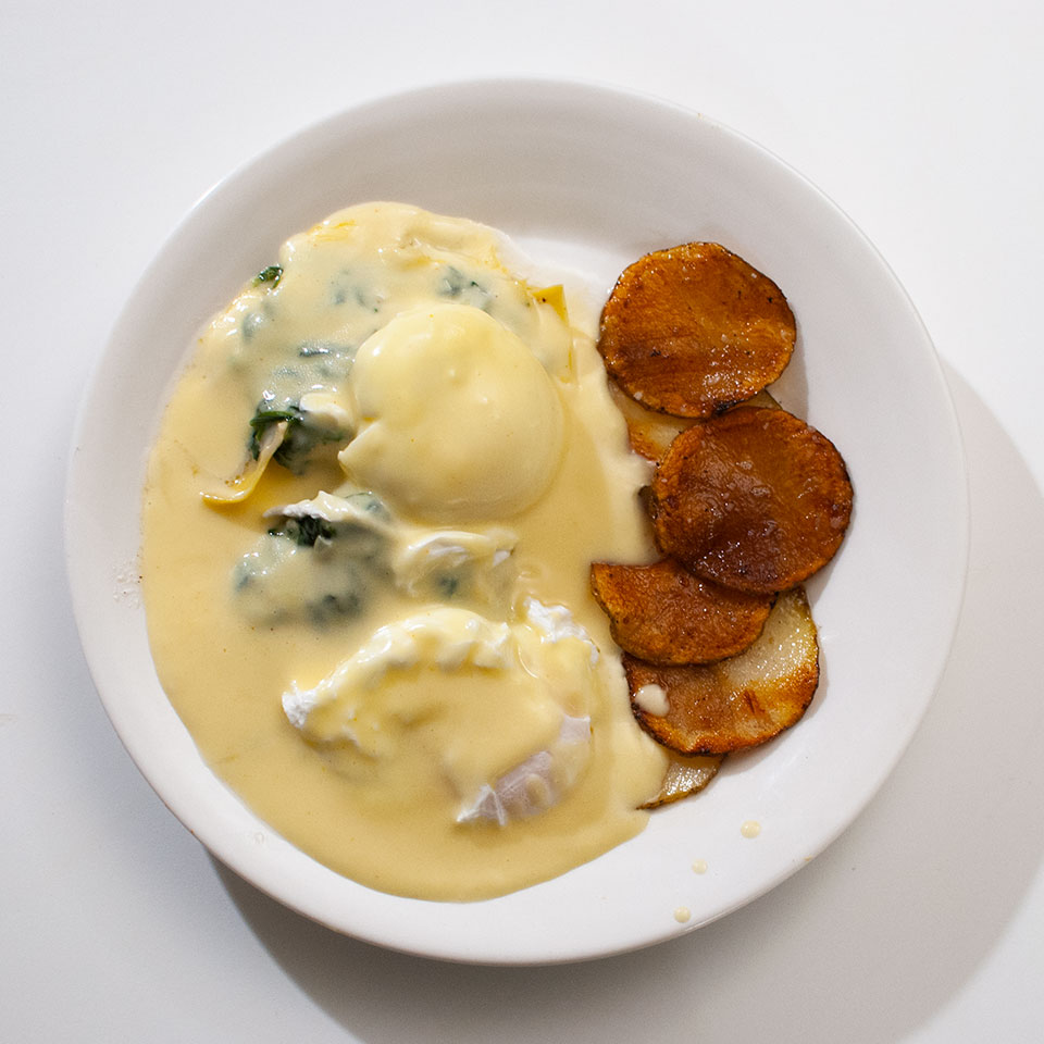 Eggs Sardou and Pommes Anna, a la #7