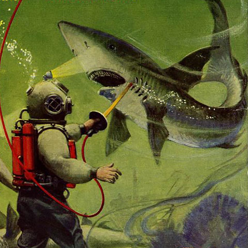 Hugo Gernsback's personal device for electrocuting sharks
